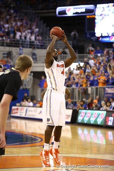 Patric Young during Florida's 66-40 win over Vanderbilt on March 6, 2013 at the Stephen C O'Connell Center in Gainesville, Florida. Photos by Curtiss Bryant for Gatorcountry.com