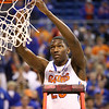 DeVon Walker cuts down the net during Florida's 66-40 win over Vanderbilt on March 6, 2013 at the Stephen C O'Connell Center in Gainesville, Florida. Photos by Curtiss Bryant for Gatorcountry.com