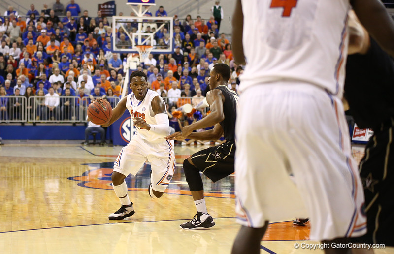 Michael Frazier during Florida's 66-40 win over Vanderbilt on March 6, 2013 at the Stephen C O'Connell Center in Gainesville, Florida. Photos by Curtiss Bryant for Gatorcountry.com