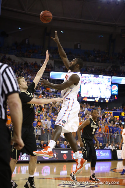 Patrick Young during Florida's 66-40 win over Vanderbilt on March 6, 2013 at the Stephen C O'Connell Center in Gainesville, Florida. Photos by Curtiss Bryant for Gatorcountry.com