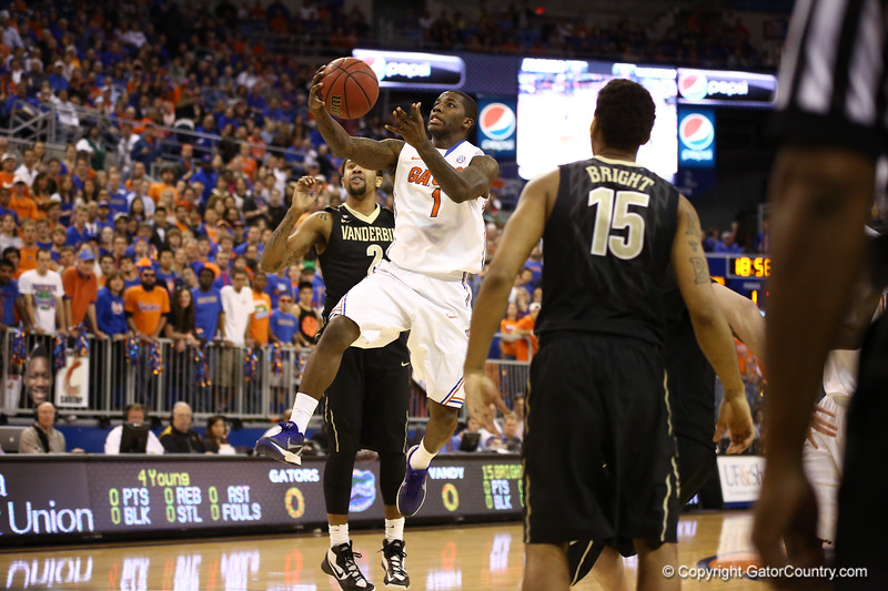 Kenny Boynton goes for a layup during Florida's 66-40 win over Vanderbilt on March 6, 2013 at the Stephen C O'Connell Center in Gainesville, Florida. Photos by Curtiss Bryant for Gatorcountry.com