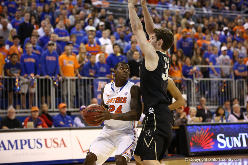 Casey Prather during Florida's 66-40 win over Vanderbilt on March 6, 2013 at the Stephen C O'Connell Center in Gainesville, Florida. Photos by Curtiss Bryant for Gatorcountry.com