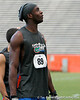Florida redshirt sophomore receiver Stephen Alli looks at the scoreboard during the Gator Charity Challenge event on Friday, July 29, 2011 at Ben Hill Griffin Stadium in Gainesville, Fla. / Gator Country photo by Tim Casey