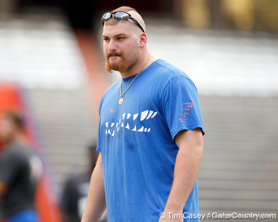 T.J. Pridemore watches the events during the Gator Charity Challenge event on Friday, July 29, 2011 at Ben Hill Griffin Stadium in Gainesville, Fla. / Gator Country photo by Tim Casey