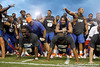 Florida redshirt senior cornerback Moses Jenkins and redshirt junior cornerback Jeremy Brown do push-ups during the Gator Charity Challenge event on Friday, July 29, 2011 at Ben Hill Griffin Stadium in Gainesville, Fla. / Gator Country photo by Tim Casey