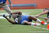 Florida junior linebacker Jonathan Bostic falls down during the tug of war during the Gator Charity Challenge event on Friday, July 29, 2011 at Ben Hill Griffin Stadium in Gainesville, Fla. / Gator Country photo by Tim Casey