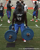 Florida redshirt senior receiver Deonte Thompson lifts the torpedo weights during the Gator Charity Challenge event on Friday, July 29, 2011 at Ben Hill Griffin Stadium in Gainesville, Fla. / Gator Country photo by Tim Casey