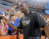 Florida redshirt sophomore receiver Andre Debose slaps hands with fans during the Gator Charity Challenge event on Friday, July 29, 2011 at Ben Hill Griffin Stadium in Gainesville, Fla. / Gator Country photo by Tim Casey