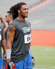 Florida junior free safety Josh Evans laughs during the Gator Charity Challenge event on Friday, July 29, 2011 at Ben Hill Griffin Stadium in Gainesville, Fla. / Gator Country photo by Tim Casey