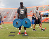 Florida freshman tight end A.C. Leonard competes in the torpedo hold during the Gator Charity Challenge event on Friday, July 29, 2011 at Ben Hill Griffin Stadium in Gainesville, Fla. / Gator Country photo by Tim Casey