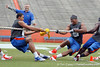 Florida redshirt sophomore tight end Jordan Reed and junior linebacker Jonathan Bostic compete in the tug of war during the Gator Charity Challenge event on Friday, July 29, 2011 at Ben Hill Griffin Stadium in Gainesville, Fla. / Gator Country photo by Tim Casey
