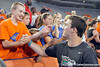 Florida redshirt senior quarterback John Brantley slaps hands with fans during the Gator Charity Challenge event on Friday, July 29, 2011 at Ben Hill Griffin Stadium in Gainesville, Fla. / Gator Country photo by Tim Casey