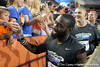 Florida redshirt senior running back/receiver Chris Rainey slaps hands with fans during the Gator Charity Challenge event on Friday, July 29, 2011 at Ben Hill Griffin Stadium in Gainesville, Fla. / Gator Country photo by Tim Casey