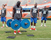 Florida redshirt senior running back/receiver Chris Rainey competes in the torpedo hold during the Gator Charity Challenge event on Friday, July 29, 2011 at Ben Hill Griffin Stadium in Gainesville, Fla. / Gator Country photo by Tim Casey