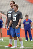 Florida sophomore kicker Brad Phillips looks on during the Gator Charity Challenge event on Friday, July 29, 2011 at Ben Hill Griffin Stadium in Gainesville, Fla. / Gator Country photo by Tim Casey