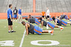 Florida junior free safety Josh Evans does push-ups during the Gator Charity Challenge event on Friday, July 29, 2011 at Ben Hill Griffin Stadium in Gainesville, Fla. / Gator Country photo by Tim Casey