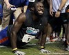 Florida redshirt senior running back/receiver Chris Rainey does a push-up during the Gator Charity Challenge event on Friday, July 29, 2011 at Ben Hill Griffin Stadium in Gainesville, Fla. / Gator Country photo by Tim Casey