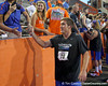 Florida senior kicker Caleb Sturgis slaps hands with fans during the Gator Charity Challenge event on Friday, July 29, 2011 at Ben Hill Griffin Stadium in Gainesville, Fla. / Gator Country photo by Tim Casey