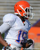 Florida freshman cornerback Lucheiz Purifoy lines up during the Gators' scrimmage on Monday, August 15, 2011 at Ben Hill Griffin Stadium in Gainesville, Fla. / photo courtesy of UF Communications
