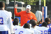 Florida head coach Will Muschamp addresses the team during the Gators' football practice on Saturday, August 6, 2011 at Donald R. Dizney Stadium in Gainesville, Fla. / photo courtesy of UF Communications