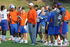 Florida defensive line coach Bryant Young looks on during the Gators' football practice on Saturday, August 6, 2011 at Donald R. Dizney Stadium in Gainesville, Fla. / photo courtesy of UF Communications