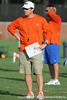 Florida head coach Will Muschamp looks on during the Gators' football practice on Saturday, August 6, 2011 at Donald R. Dizney Stadium in Gainesville, Fla. / photo courtesy of UF Communications