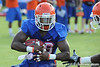 Florida senior running back Jeff Demps runs the ball during the Gators' football practice on Saturday, August 6, 2011 at Donald R. Dizney Stadium in Gainesville, Fla. / photo courtesy of UF Communications