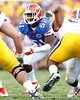 Florida redshirt freshman linebacker Michael Taylor follows the ball during the third quarter of the Gators' 41-11 loss to the LSU Tigers on Saturday, October 8, 2011 at Tiger Stadium in Baton Rouge, La. / Gator Country photo by Tim Casey