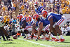 Florida freshman quarterback Jacoby Brissett calls out the cadence during the first quarter of the Gators' 41-11 loss to the LSU Tigers on Saturday, October 8, 2011 at Tiger Stadium in Baton Rouge, La. / Gator Country photo by Tim Casey