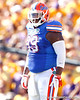 Florida redshirt junior defensive tackle Omar Hunter looks to the sideline during the first quarter of the Gators' 41-11 loss to the LSU Tigers on Saturday, October 8, 2011 at Tiger Stadium in Baton Rouge, La. / Gator Country photo by Tim Casey