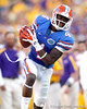 Florida redshirt sophomore receiver Andre Debose catches a 65-yard touchdown pass during the third quarter of the Gators' 41-11 loss to the LSU Tigers on Saturday, October 8, 2011 at Tiger Stadium in Baton Rouge, La. / Gator Country photo by Tim Casey
