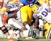Florida junior running back Mike Gillislee runs for a three-yard gain during the second quarter of the Gators' 41-11 loss to the LSU Tigers on Saturday, October 8, 2011 at Tiger Stadium in Baton Rouge, La. / Gator Country photo by Tim Casey