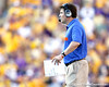 Florida head coach Will Muschamp watches from the sideline during the fourth quarter of the Gators' 41-11 loss to the LSU Tigers on Saturday, October 8, 2011 at Tiger Stadium in Baton Rouge, La. / Gator Country photo by Tim Casey