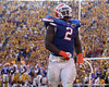 Florida sophomore defensive tackle Dominique Easley returns to the sideline after a touchdown during the fourth quarter of the Gators' 41-11 loss to the LSU Tigers on Saturday, October 8, 2011 at Tiger Stadium in Baton Rouge, La. / Gator Country photo by Tim Casey