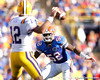 Florida junior linebacker Jonathan Bostic pressures Jarrett Lee during the third quarter of the Gators' 41-11 loss to the LSU Tigers on Saturday, October 8, 2011 at Tiger Stadium in Baton Rouge, La. / Gator Country photo by Tim Casey