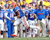 Florida sophomore running back Trey Burton gains 10 yards on a pass during the second quarter of the Gators' 41-11 loss to the LSU Tigers on Saturday, October 8, 2011 at Tiger Stadium in Baton Rouge, La. / Gator Country photo by Tim Casey