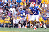 Florida freshman quarterback Jacoby Brissett drops back to pass during the third quarter of the Gators' 41-11 loss to the LSU Tigers on Saturday, October 8, 2011 at Tiger Stadium in Baton Rouge, La. / Gator Country photo by Tim Casey