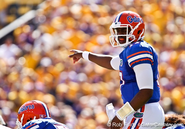 Florida freshman quarterback Jacoby Brissett during the Gators' 41-11 loss to the LSU Tigers on Saturday, October 8, 2011 at Tiger Stadium in Baton Rouge, La. / Gator Country photo by Rob Foldy
