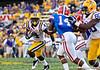 LSU running back Alfred Blue during the Gators' 41-11 loss to the LSU Tigers on Saturday, October 8, 2011 at Tiger Stadium in Baton Rouge, La. / Gator Country photo by Rob Foldy
