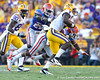 Florida sophomore safety Matt Elam chases Alfred Blue during the fourth quarter of the Gators' 41-11 loss to the LSU Tigers on Saturday, October 8, 2011 at Tiger Stadium in Baton Rouge, La. / Gator Country photo by Tim Casey