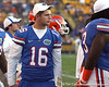 Florida freshman quarterback Jeff Driskel watches from the sideline during the Gators' 41-11 loss to the LSU Tigers on Saturday, October 8, 2011 at Tiger Stadium in Baton Rouge, La. / Gator Country photo by Tim Casey