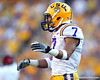 LSU cornerback Tyrann Mathieu lines up during the third quarter of the Gators' 41-11 loss to the LSU Tigers on Saturday, October 8, 2011 at Tiger Stadium in Baton Rouge, La. / Gator Country photo by Tim Casey