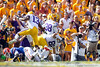 LSU punter Brad Wing runs 44 yards for a touchdown that was called back due to unsportsmanlike conduct during the first quarter of the Gators' 41-11 loss to the Tigers on Saturday, October 8, 2011 at Tiger Stadium in Baton Rouge, La. / Gator Country photo by Tim Casey