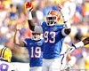 Florida redshirt sophomore defensive tackle Kedric Johnson celebrates after a field goal during the second quarter of the Gators' 41-11 loss to the LSU Tigers on Saturday, October 8, 2011 at Tiger Stadium in Baton Rouge, La. / Gator Country photo by Tim Casey