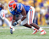 Florida senior defensive end William Green jumps off of the line during the fourth quarter of the Gators' 41-11 loss to the LSU Tigers on Saturday, October 8, 2011 at Tiger Stadium in Baton Rouge, La. / Gator Country photo by Tim Casey