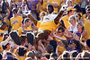 Mike crowd surfs during the third quarter of the Gators' 41-11 loss to the LSU Tigers on Saturday, October 8, 2011 at Tiger Stadium in Baton Rouge, La. / Gator Country photo by Tim Casey