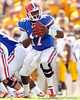 Florida freshman quarterback Jacoby Brissett turns to hand off the ball during the first quarter of the Gators' 41-11 loss to the LSU Tigers on Saturday, October 8, 2011 at Tiger Stadium in Baton Rouge, La. / Gator Country photo by Tim Casey