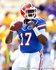 Florida freshman quarterback Jacoby Brissett warms up before the Gators' 41-11 loss to the LSU Tigers on Saturday, October 8, 2011 at Tiger Stadium in Baton Rouge, La. / Gator Country photo by Tim Casey