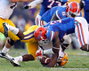 Florida redshirt junior defensive end Lerentee McCray tackles Spencer Ware during the fourth quarter of the Gators' 41-11 loss to the LSU Tigers on Saturday, October 8, 2011 at Tiger Stadium in Baton Rouge, La. / Gator Country photo by Tim Casey
