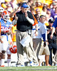 Florida defensive coordinator/defensive line coach Dan Quinn shouts from the sideline during the third quarter of the Gators' 41-11 loss to the LSU Tigers on Saturday, October 8, 2011 at Tiger Stadium in Baton Rouge, La. / Gator Country photo by Tim Casey